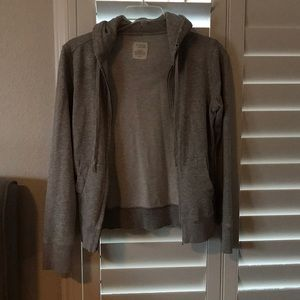 Jcrew distressed grey hoodie